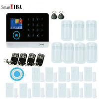 SmartYIBA 433MHZ Wireless WIFI Home Security Alarm System IOS/Android APP Remote Control Touch Keyboard SIM alarm