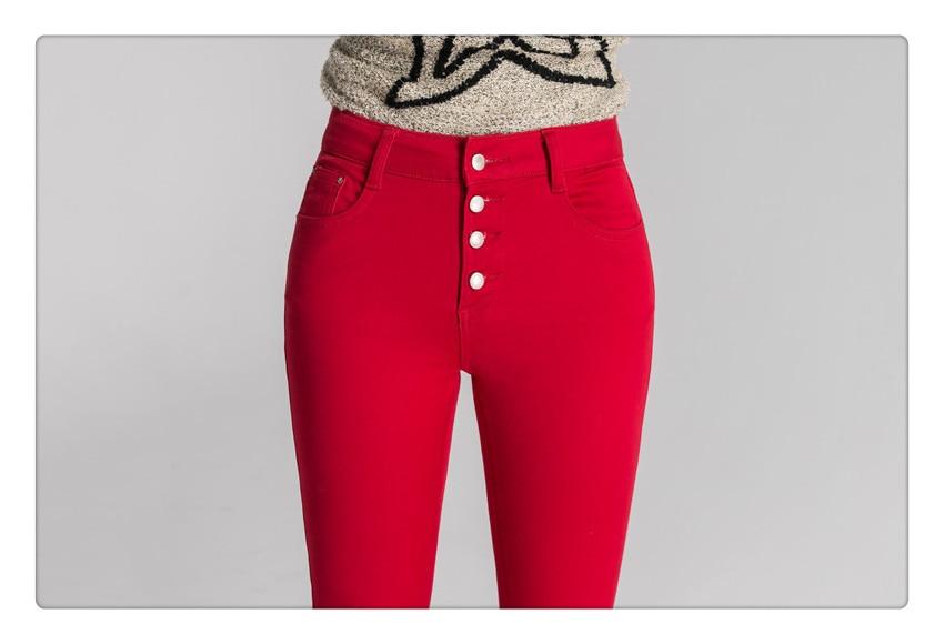 6d09e765216 ZHISILAO 2018 женские джинсы летние джинсы джинсовые брюки женские брюки  карандаш брюки женские брюки с высокой талией повседневные брюки красный ...