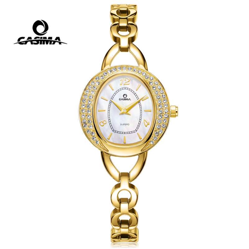 CASIMA Luxury Brand Women Watches Ladies Fashion Casual Waterproof Gold Bracelet Diamond Quartz Watch Clock Relogio Feminino
