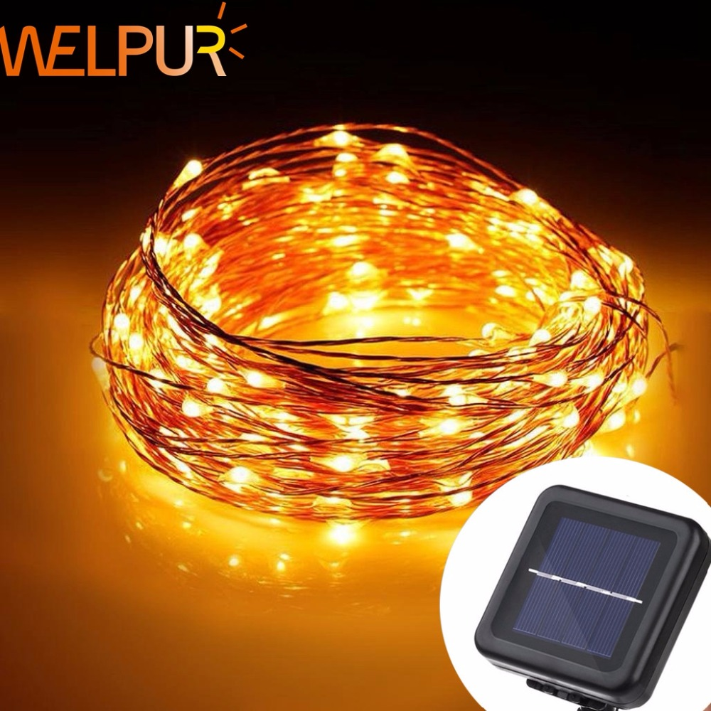 LED Solar String  Fairy Light Christmas Lights 10M 5M 50 100 LED Copper Wire Xmas Wedding Party Decor Lamp
