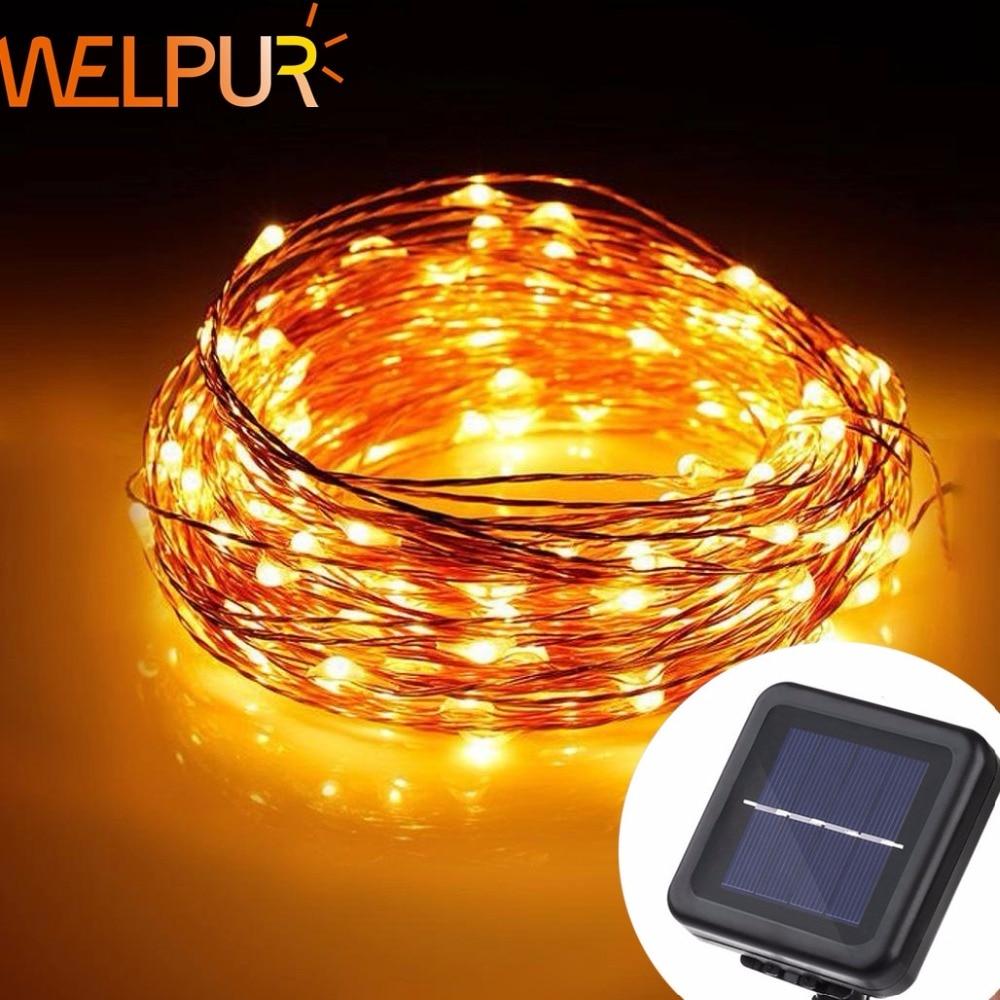 LED Solar String  Fairy Light Christmas Lights 10M 5M 50 100 LED Copper Wire Xmas Wedding Party Decor Lamp
