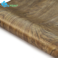45cmX5m Waterproof Fabric PVC Stickers Roll Vinyl Wallpaper Furniture Wood Grain Paper Self Adhesive Film Wardrobe