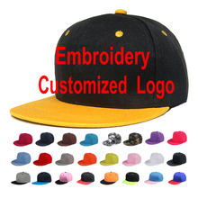 Custom Embroidery Logo Hip Hop Hat For Adult Children Flat Peaked Visor Motor Car Logo Snapback Cap Wedding Birthday Gifts YY141(China)