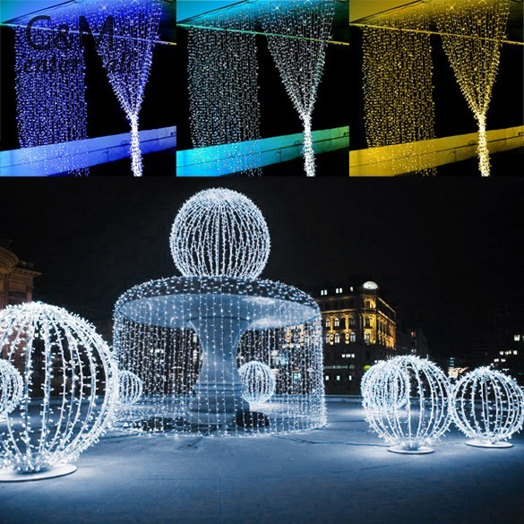 3x3M 400LED 220V LED String Light EU Plug Christmas xmas String Fairy Wedding Curtain Light String Light