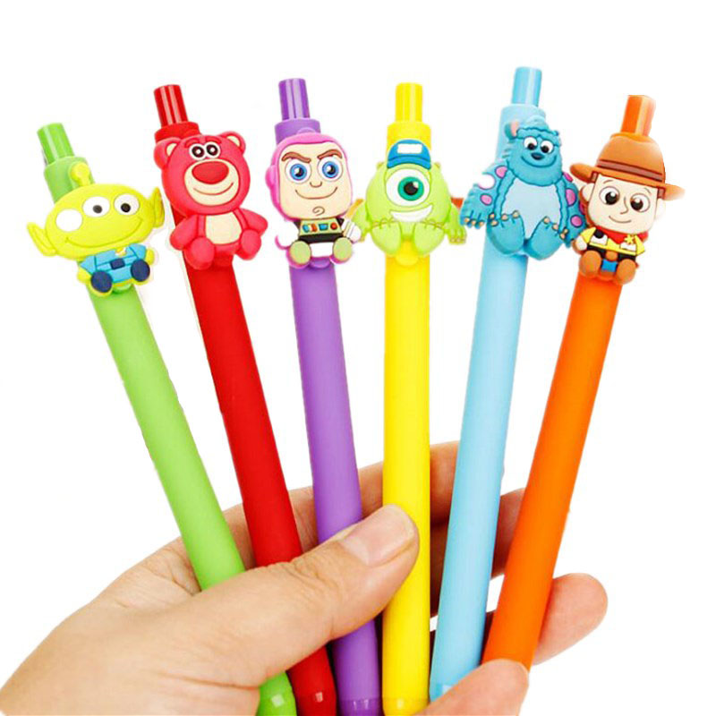 24pcs/lot Kawaii Cartoon Toy Story Monsters University Gel Pen 0.5mm Black Pen Gift Papelaria Stationery School Supplies G023