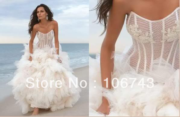 Popular White Transparent Lace Wedding Gowns-Buy Cheap White ...