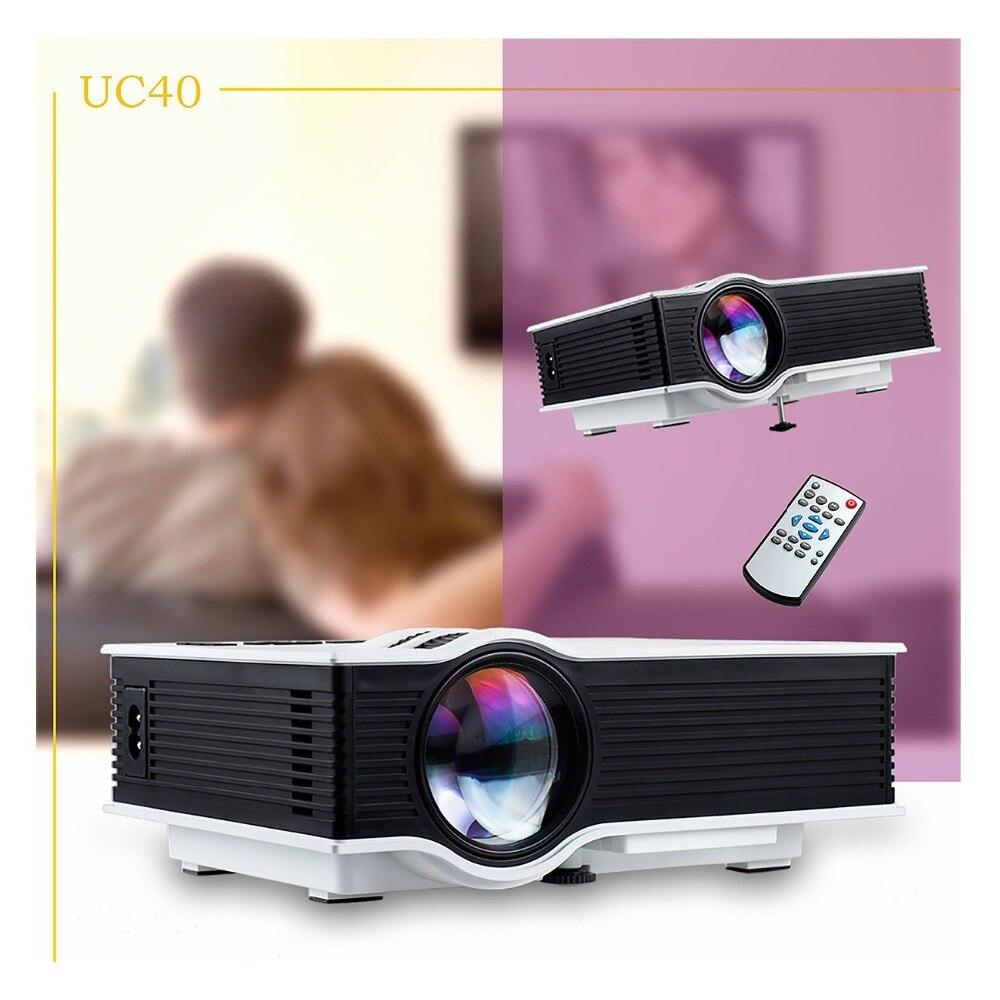 NEW 800 lumens 1080P HD LED Mini Projector Home Film Cinema Business HDMI AV SD UC40