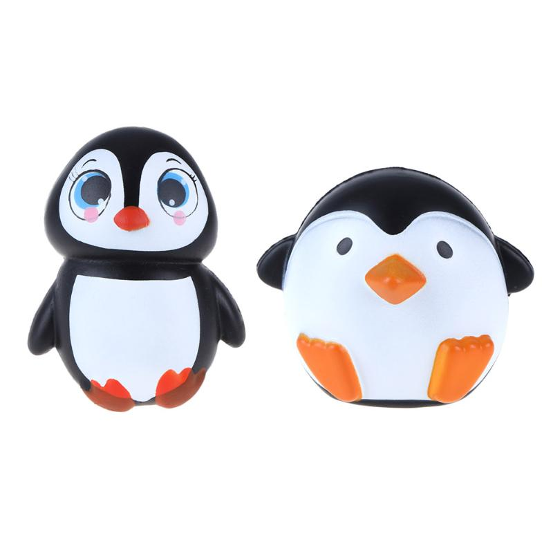 Mini Emulation Animal Penguin Shape Kids Adult Stress Relied Toy Slow Rising Stretchy Squeeze Kid Toy
