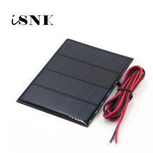 18V 1.5Watt with 100cm extend cable Solar Panel Polycrystalline Silicon DIY 12V Battery Charger Module Mini Solar Cell wire toy