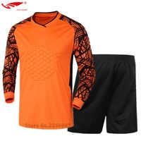 High Quality Survetement Football 2017 Boys Youth Men's Goalkeeper Soccer Jerseys Football Suit Adult Goalie Keeper Long Sleeve