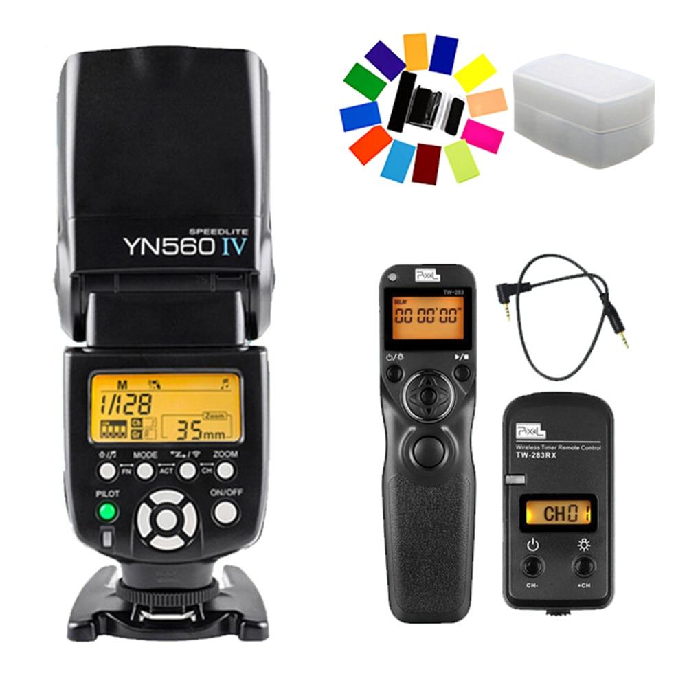 YONGNUO YN560 IV YN-560 IV Flash Speedlite & Pixel TW-283 E3 Shutter Release For Canon 70D 1200D 1100D 1000D 760D 750D 700D 60D yongnuo yn560 tx wireless flash controller and commander yn 560tx for yn560 iii yn 560 iv for canon 60d 70d 7d 6d 700d 5d2 5d3