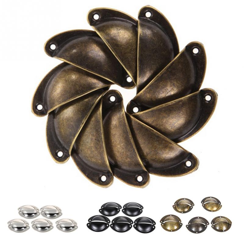 10pcs Antique Wrought Iron Door Handle Shells Cabinet Vintage Drawers Cupboard Door Handle10pcs Antique Wrought Iron Door Handle Shells Cabinet Vintage Drawers Cupboard Door Handle