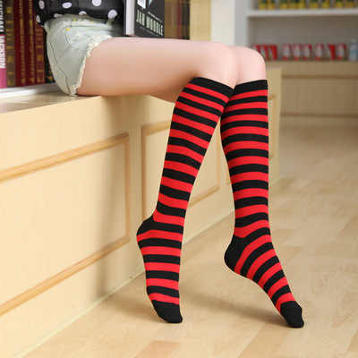 0205fe963fb ... Boots Thigh Knee High Socks New Colorful Sexy Striped Compression  Women s Long Socks Ladies Girls Fashion ...