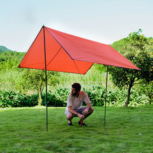цена на Outdoor Sun Shelter Waterproof Camping Mat Picnic Blanket Pergola Canopy Tent Awning Foldable UV Protection Sun Shelter Tent