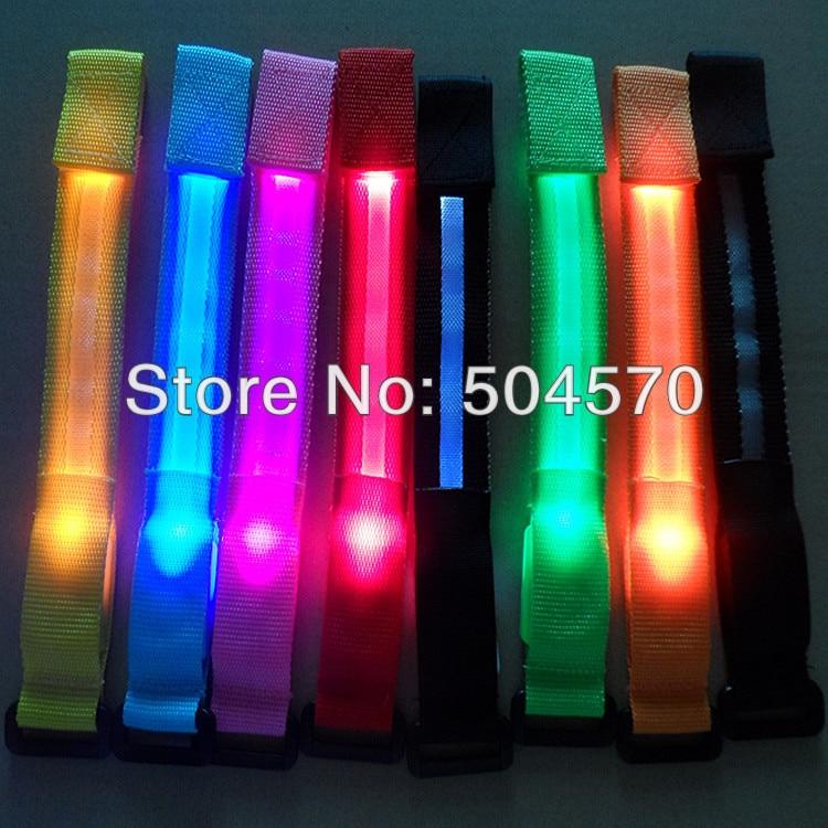 10pcs / lot 22cm najlon LED sportski ručni remen traka užaren - Za blagdane i zabave - Foto 1