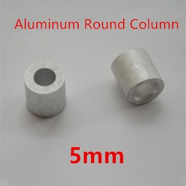 50 Stks/partij 5mm Aluminium Ronde Draad Touw Adereindhulzen Ronde Gat Aluminium Spacer Aluminium Clip Voor Snelle Verzending