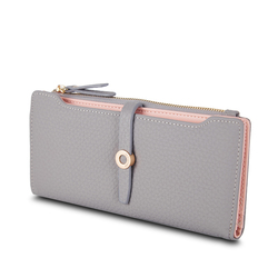 Top quality latest lovely leather long women wallet fashion girls change clasp purse money coin card.jpg 250x250