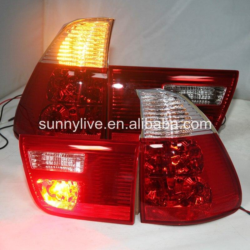 X5 E53 feu arrière lampe pour BMW couleur rouge blanc 2000-2006 an