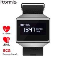 ITORMIS Fitness Smart Bracelet SmartBand Sport Wrist Band Watch ECG Heart Rate Blood Pessure Monitor CK12