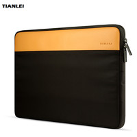 TIANLEI Leather Laptop Sleeve Bag Case For Macbook Air 12 Macbook 13 15 Carrying Notebook Pouch Cover For Lenovo Xiaomi Bag