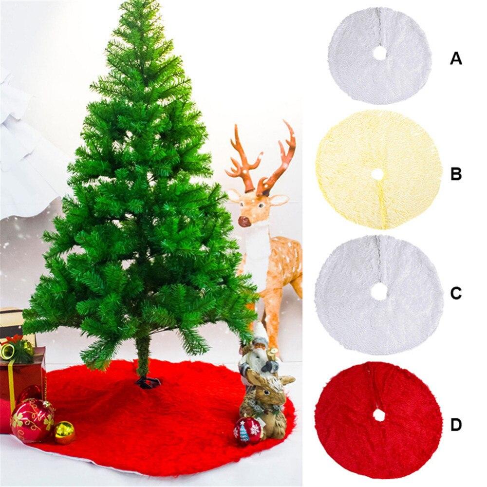 extra large 120cm white plush christmas tree skirt for christmas decoration christmas tree ornament christmas decor for home in tree skirts from home - Extra Large Christmas Tree Skirt