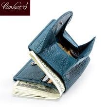 ミニクラッチコイン財布カードホルダーポケット本革女性財布小銭袋のためのデザイナーcarteira
