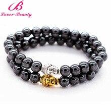 Lover Beauty Unisex Health Care Weight Loss Magnetic Bracelets Anti-fatigu magnet Jewelry Bracelet charm bracelets Buddha -E