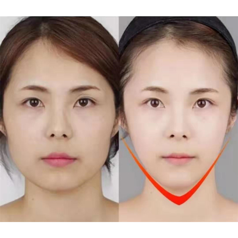4D Double Slim V Face Mask Hanging Ear Face Paste Hydrogel Face Mask Lifting Firming Thin Masseter Double Chin Masks Skin Care