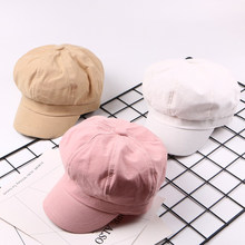 7edbe61f387 Spring Summer Baseball Caps Solid Color Plain Cute Octagonal Hat Painter Cap  Multicolor Wild Octagonal Hats Casual Visor Sale