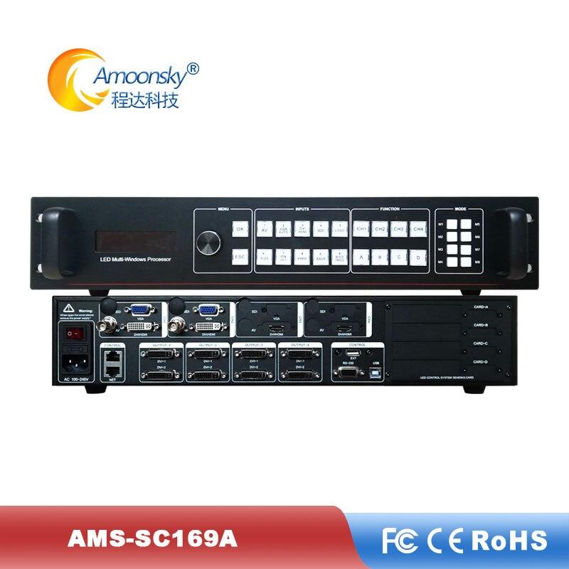 AMS-SC369A LED Display Video Processor LED Multi-window Sync Processor LED Video Controller HDMI Quad LED Rental Wall Screen HD