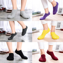 2 pairs/lot 2018 New Womens Socks Solid Color Invisible Socks Women's Short Sock Slippers Summer Thin non-slip Socks Women 1 pair new womens socks solid color pink black white invisible lady s short socks summer thin non slip silica gel girl boat gift