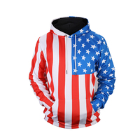 Flag Stripe Star Print Hooded Sweatshirt Men Women Funny Unisex 3D Hoodies Sweatshirts Harajuku Hip Hop Long Sleeve Hoody Tops