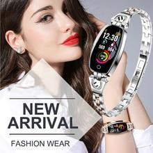 Smart Band H8 Fashion Women Wristband Fitness Tracker Heart Rate Monitor Luxury best gift  Watch