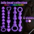 Nervuras davidsource cravado butt plug silicone 1 peça adulto anal Reto ânus Brinquedo Para Mulheres Dos Homens G-Spot Prostate Massager Sex brinquedo