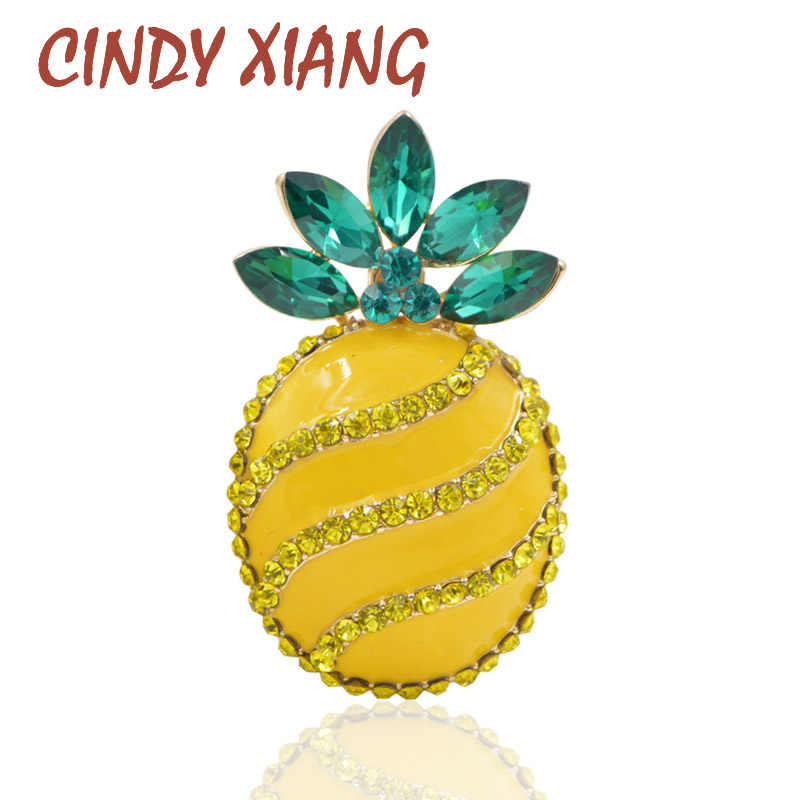 Cindy Xiang Gaya Musim Panas Nanas Bros untuk Wanita Fashion Berlian Imitasi Buah Bros Fashion Baru 2018 Menyesuaikan Gaya