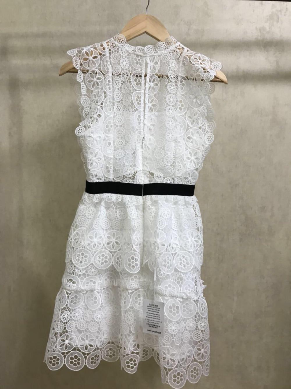 Blanc Multi Mince Qualité Style Gilet Broderie Nouveau Haute Nouvelle Fée Robe Évider Lady Arrivée couche Dentelle 2018 qBwHxZt8