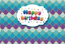Laeacco Colorful Diamond Happy Birthday Scene Baby Photography Backgrounds Customized Photographic Backdrops For Photo Studio