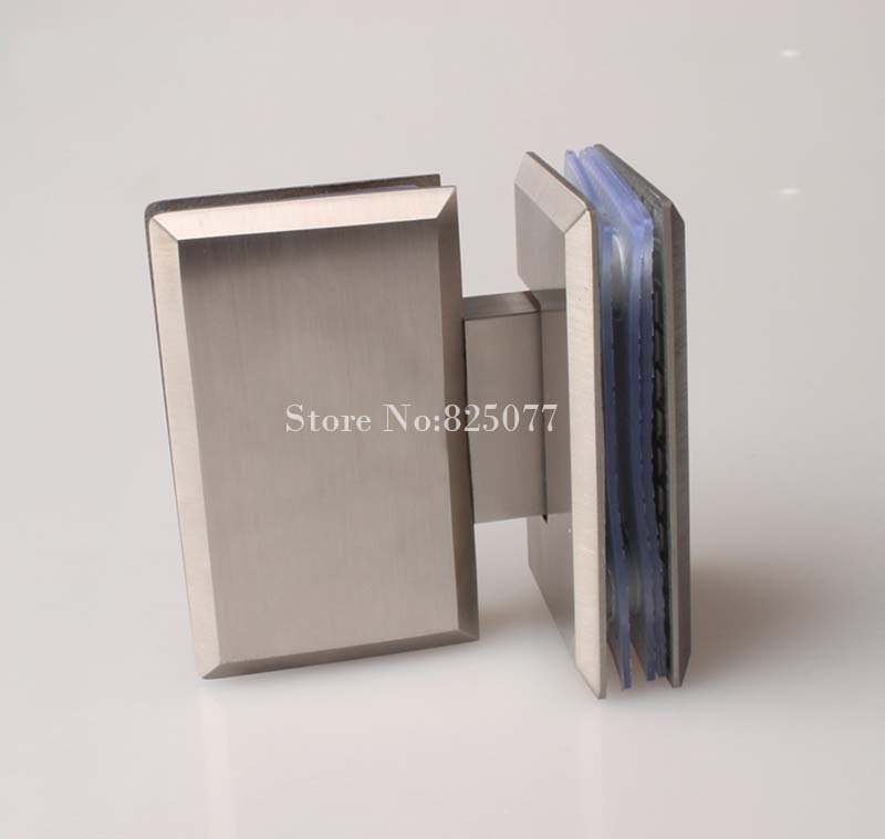 free shipping brushed 180 degrees open stainless steel 304 wall mount glass shower door hinge hypotenuse