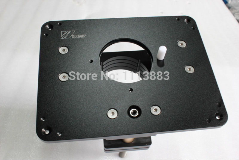 Heavy duty router lift with aluminium router insert plate in wood img4443 keyboard keysfo Images