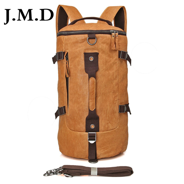 J.M.D Genuine Leather Men's Shoulder Messenger Travel Bag Bucket JMD Cross Body Purse For School Backpack Hand bags 2003
