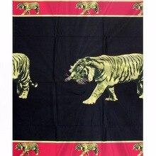 Animal motifs design Silk Satin Chiffon Fabric High Quality Ankara African Wax Print 4+2 Yards 913