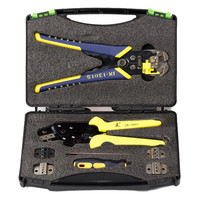 JX D5301 Multifunctional Ratchet Crimping Tool Wire Strippers Terminals Pliers Kit