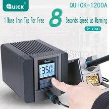 Паяльная станция QUICK TS1200A, паяльная станция без свинца, Антистатическая паяльная станция 120 Вт, 8 секунд, быстрая сварка