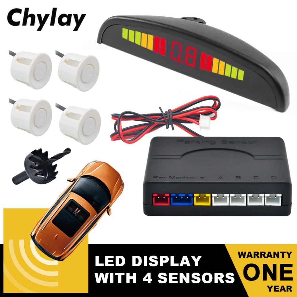 Car Parking Sensor Auto Led Display 4 Sensors Reverse Backup Car Parking Detector Radar Monitor System