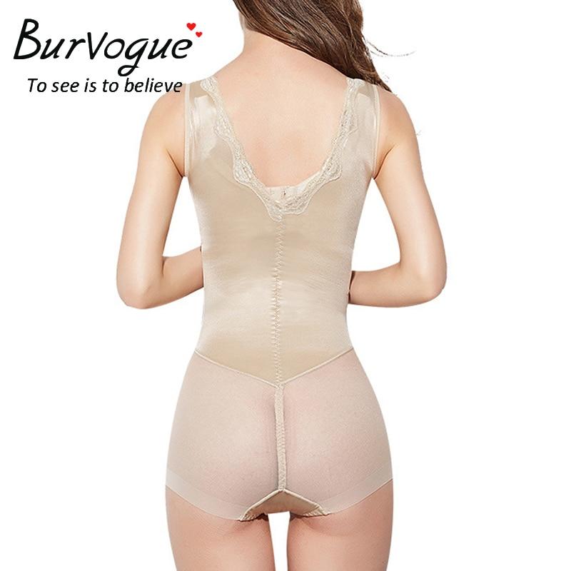 2ec1c7c9d0 Burvogue Women Body Shaper Slimming Open Bust Bodysuit Waist Trainer  Seamless Tummy Control Underbust Shapewear Underwear Shaper-in Bodysuits  from Underwear ...