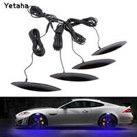 4x azul coche guardabarros ceja luces LED flash universal atmósfera Lámparas Car-Styling exterior ambiente decorativo Luz