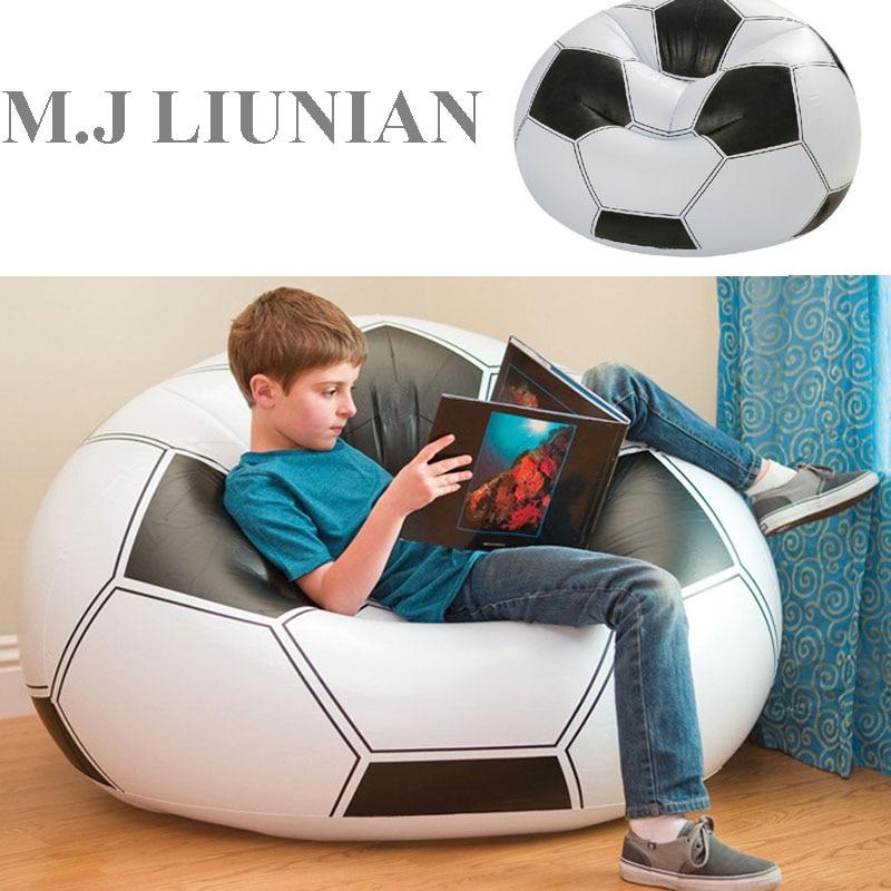 M.J LIUNIAN Baby Seats Children Basketball Football Sofa Inflatable Kids Creative Sofas Bean Bag Infant Kid Chair Seats 110*80CM