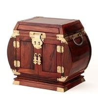 Rosewood rosewood wooden jewelry box jewelry box wood wedding oversized plain chest mirror lock