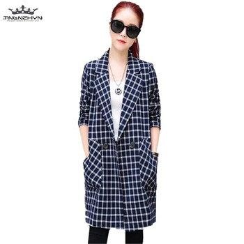 tnlnzhyn 2019 New Spring Autumn Women Trench Coat Lapels Pockets Windbreaker Coat Female Slim Trench Outerwear Tops Y549