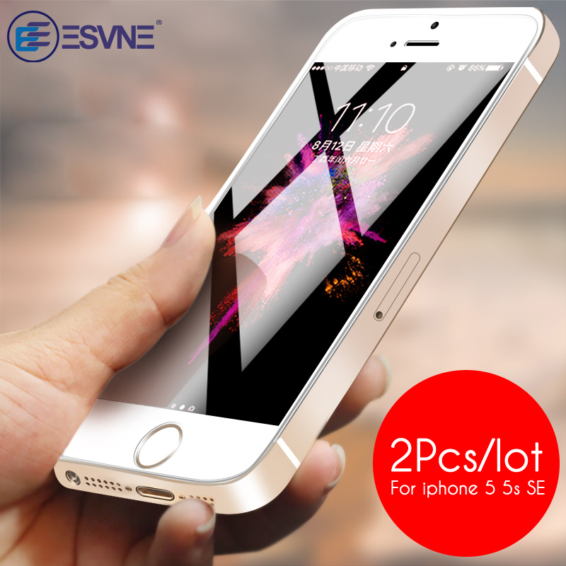 ESVNE (2 pcs/lot)0.26mm 2.5D Protective Glass For iPhone se glass iPhone 5s glass 5 Screen Protector On Tempered Glass FilmESVNE (2 pcs/lot)0.26mm 2.5D Protective Glass For iPhone se glass iPhone 5s glass 5 Screen Protector On Tempered Glass Film